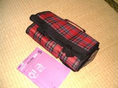 韓国で買った折りたたみかばん