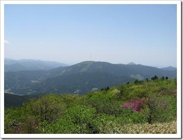 雷山山頂からの眺め