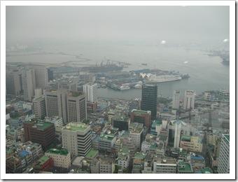 釜山国際旅客ターミナル方向