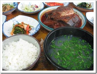 ソムジンガン(섬진강)のシジミ定食
