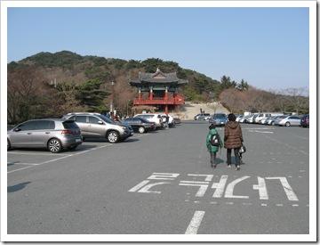 石窟庵の駐車場