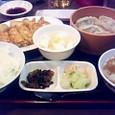 宇都宮で餃子定食を食べました。