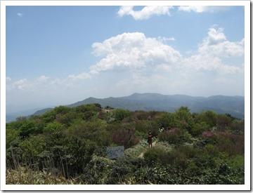 井原山山頂から脊振山方面。